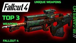 Fallout 4 Top 3 Armas únicas / Armas raras (Unique Weapons) (Localização) Parte 1