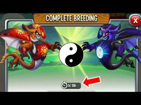 Dragon City : Breeding Solar Flare Dragon ❤️ Lunar Shadow Dragon