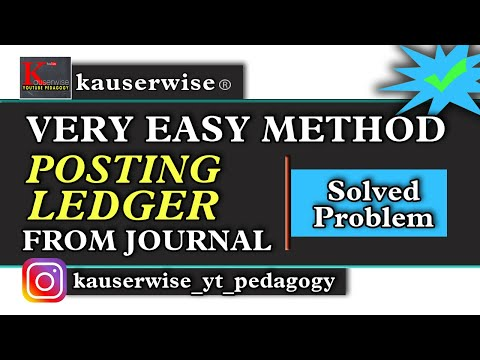 Posting Ledger [LEDGER from JOURNAL] with solved problem :-by kauserwise
