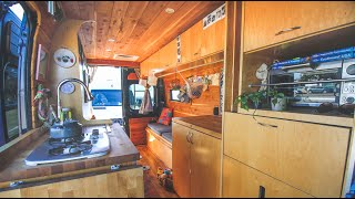 Her Camper Van Hąs An Ingenious Murphy Bed Design - Trading Rent For Life On The Road
