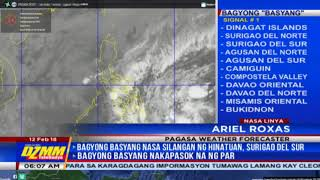 Moderate to heavy rains in Visayas, Mindanao as Basyang slows