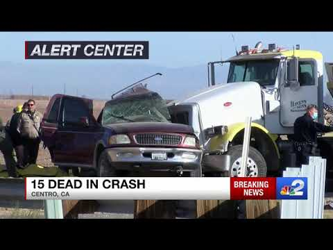 At least 15 dead in multiple-vehicle crash in Imperial County, California