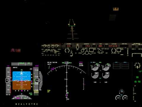 Tour around the world in the 737-900 landing at YBAS