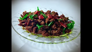 Beef Chilli / Kerala Spicy Beef Chilli / Crispy Chilli Beef