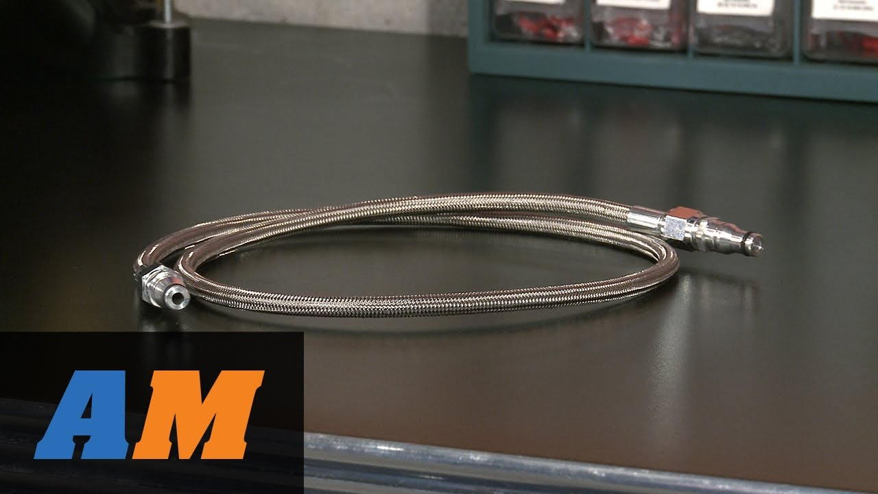 Mustang Sr Performance Braided Stainless Steel Hydraulic