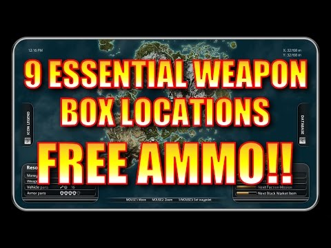 Just Cause 2 Gameplay - 9 Essential Weapon Box Locations (FREE AMMO!)