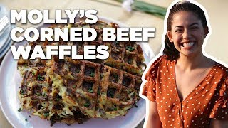 Waffles Made of CORNED BEEF Hash with Molly Yeh | Food Network