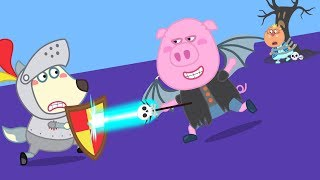 JUNGE WÖLFE RITTER RETTET ELSA PRINZESSIN   Cartoons für Kinder