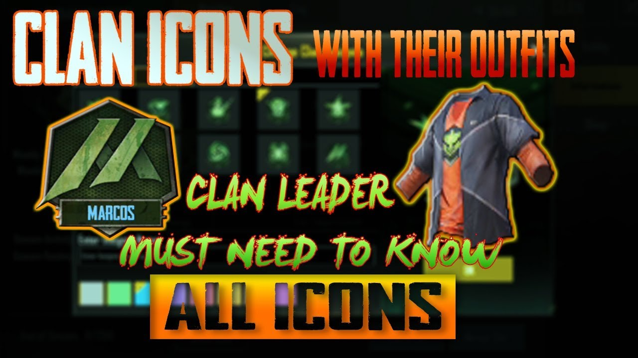 All Clan Icons With There Outfits Pubg Mobile Youtube