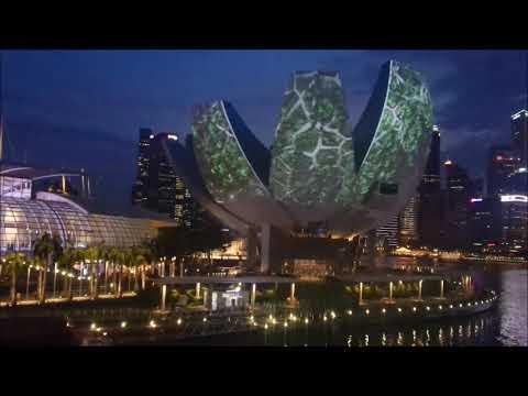 i Light Marina Bay Singapore at the art science museum Singpore (30 Mar 2018)