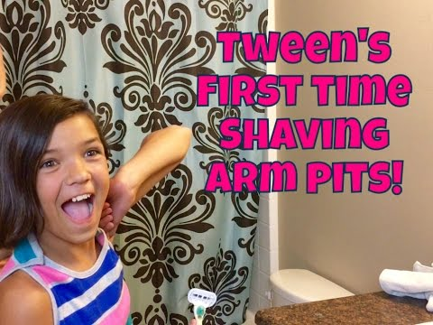 😳PRE-TEEN'S FIRST TIME SHAVING ARMPITS! / How To Shave Armpits