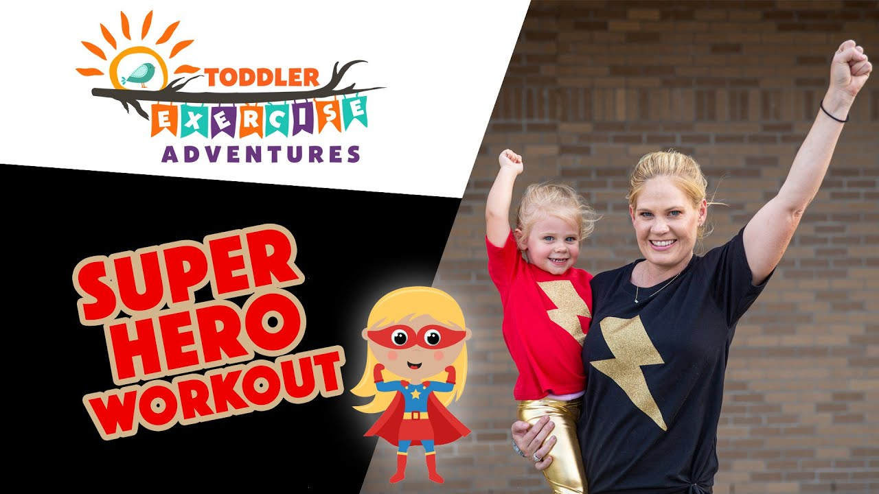 Super Hero Workout // Kids and Toddler Preschool Fitness