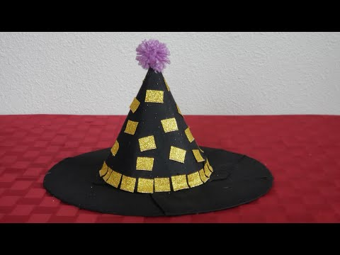 DIY Easy Witch Hat from scratch. DIY Halloween costume