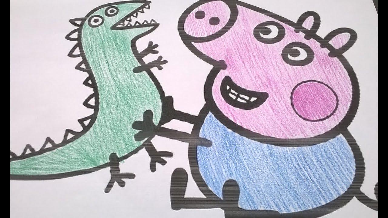 Swinka Peppa Kolorowanka Peppa Pig Coloring Book Youtube