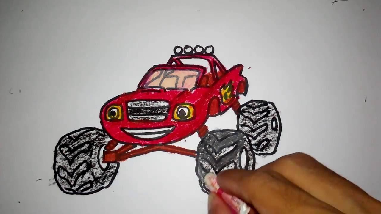 Cara Menggambar Mobil Blaze Untuk Anak