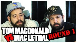 TWITTER BEEF BARS!! Diss Reaction | Tom Macdonald Vs Mac Lethal (*Round 1)
