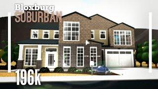 (196K) Suburban House SpeedBuild - Bloxburg ROBLOX