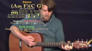 A Guy With A Girl (Blake Shelton) Guitar Lesson Chord Chart - Am F C G - 8th Strum