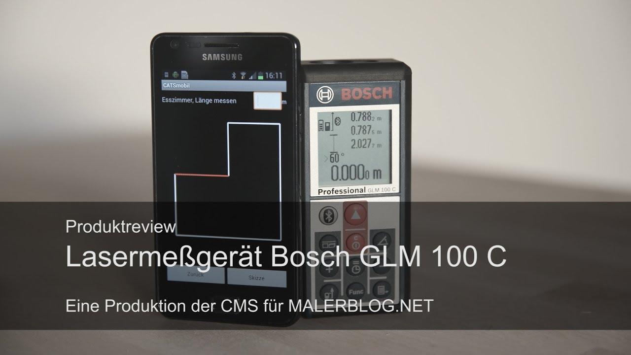 Review bosch bluetooth laser glm c und catsmobil d