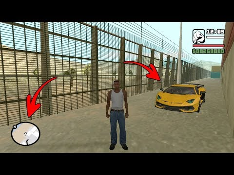 Secret Lamborghini Car Location In GTA San Andreas! (Hidden Place)