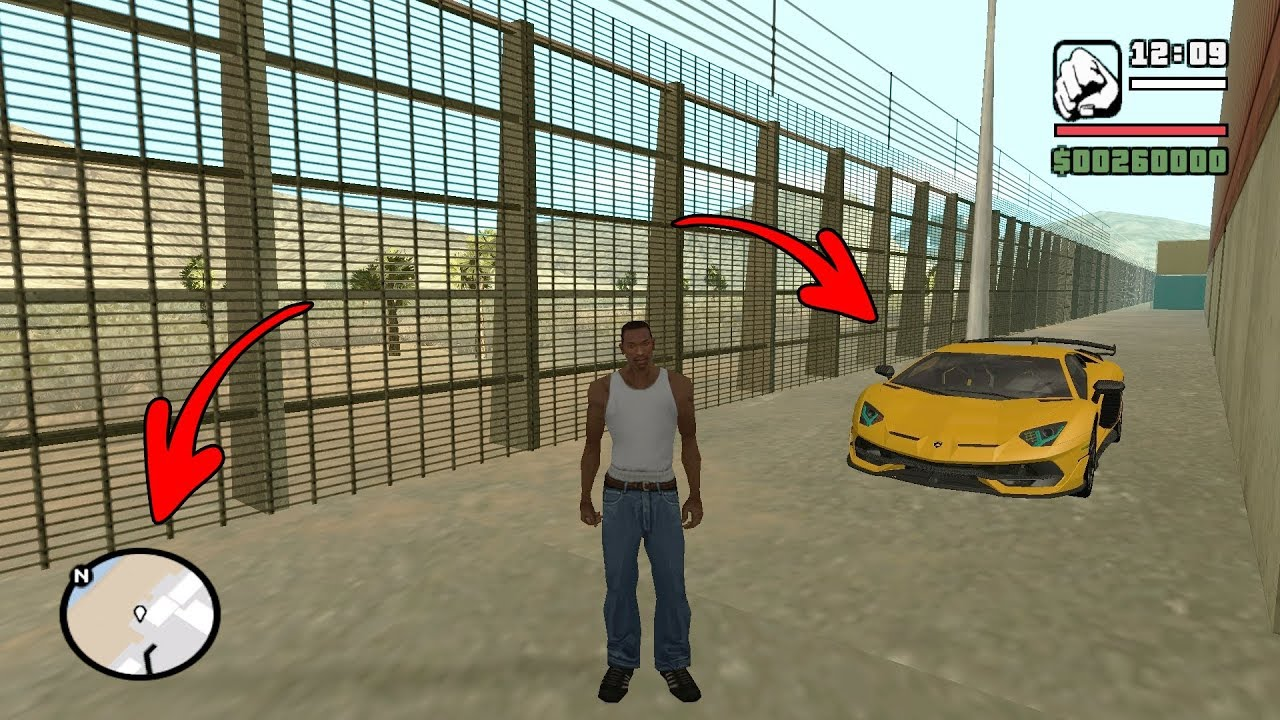 Secret Lamborghini Car Location In Gta San Andreas Hidden Place Youtube