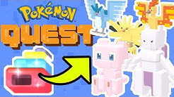 How To Get ALL LEGENDARY POKEMON In Pokemon Quest EASY! [Mew, Mewtwo, & More!)