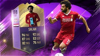 FIFA 18 POTM Salah Review - 88 Player of the Month Mohamed Salah Player Review