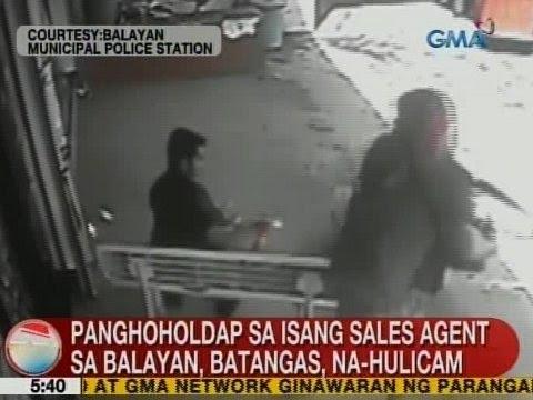 UB: Panhoholdap sa isang sales agent sa Balayan, Batangas, na-hulicam