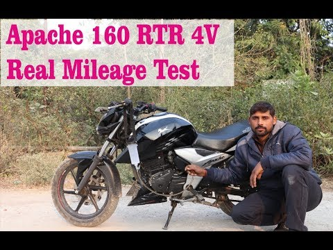 TVS Apache 160 RTR 4v Real mileage test 2019