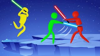 LIGHT SABERS + STICK FIGURES = This GAME! (Super Smash)
