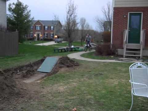 how to build a backyard bmx dirt track