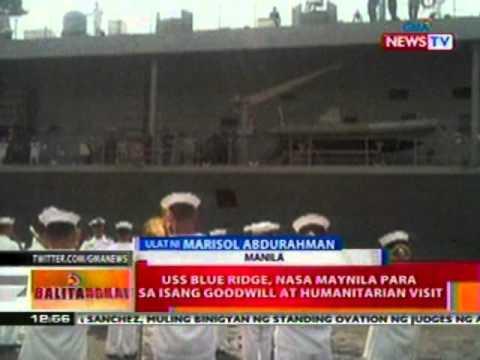 BT: USS Blue Ridge, nasa Maynila para sa   isang goodwill at humanitarian visit