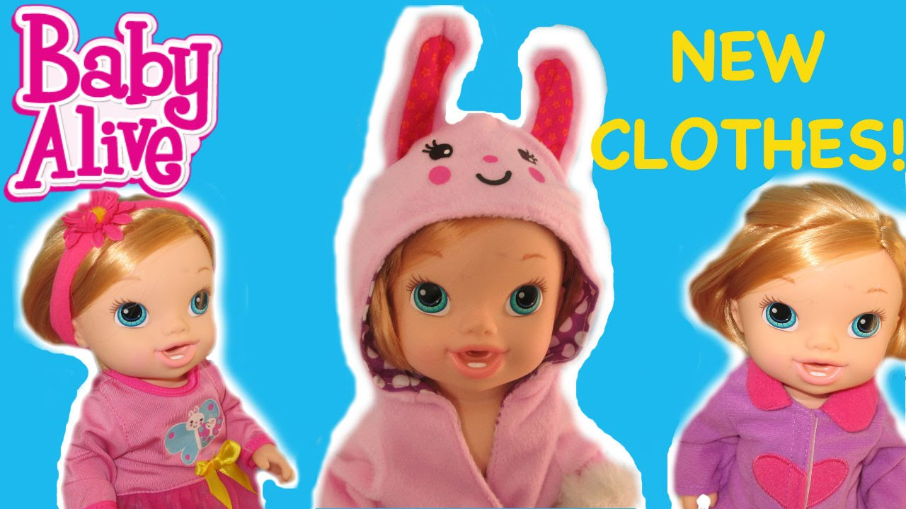 Baby Alive New Clothes Pretty Lil Fashion Set For Baby Alive Brushy ...