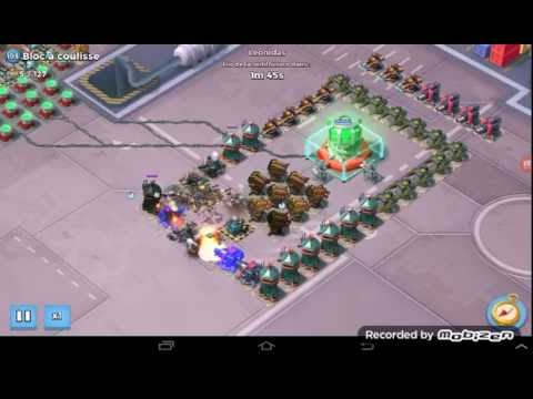 Boom Beach operation Fox trot OS bloc a coulisse