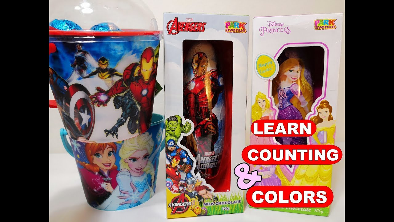 Huge Marvel Superhero Avengers and Disney Princess Easter ...