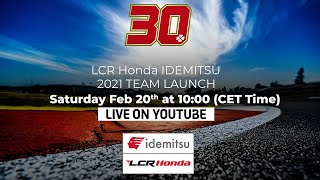 LCR Honda Idemitsu 2021 Team Launch