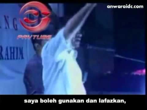 Anwar Ibrahim Bersumpah Guna Kalimah Allah