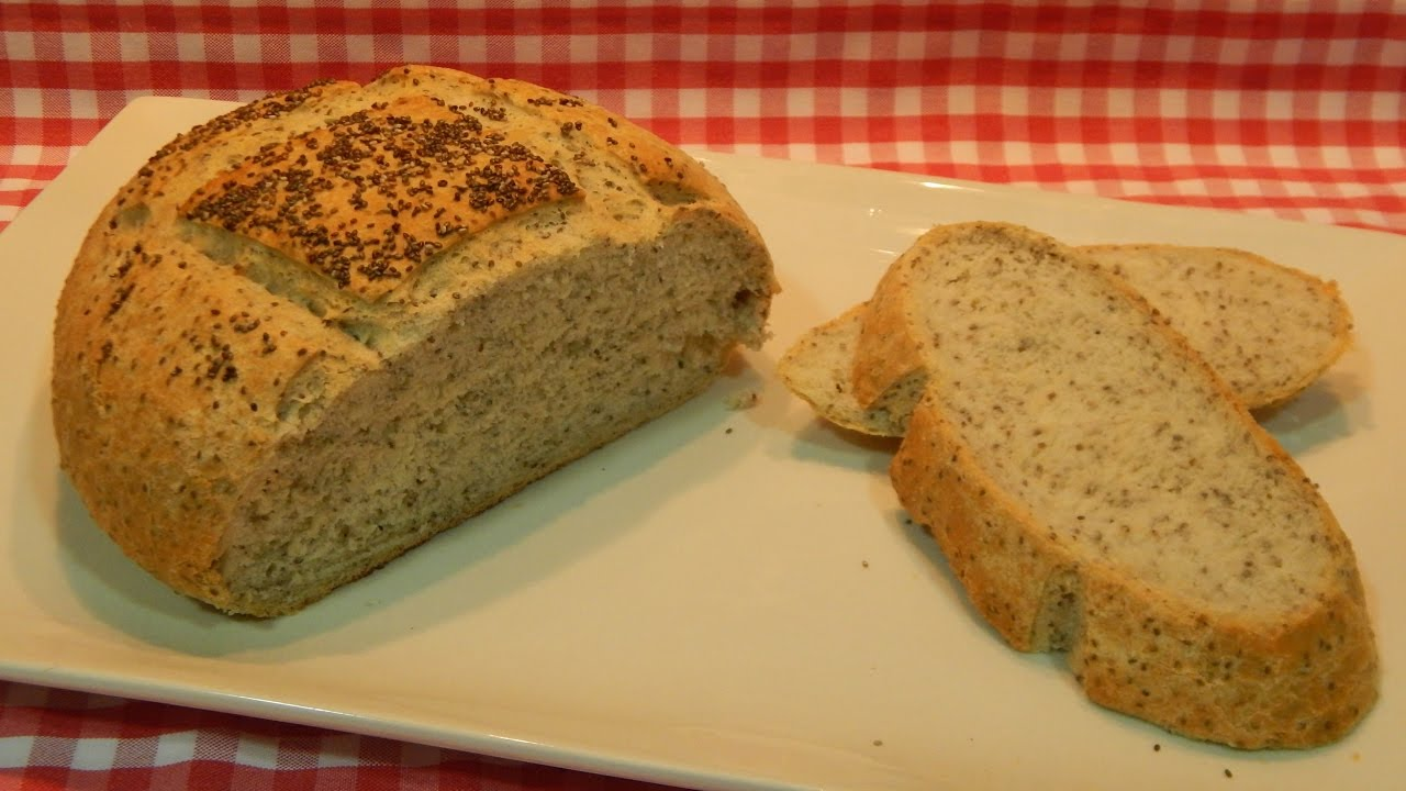 receta de pan integral con semillas saludable