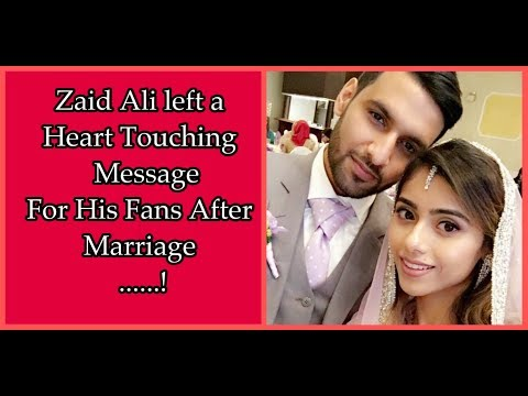 Zaid Ali Left a Heart Touching Message For...