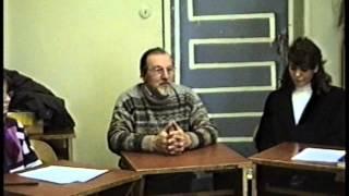 Фрагмент учебного занятия немецкого языка с носителем в Некрасовском колледже 1997 год