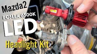 Mazda2 | Boslla 6500k LED Headlight Kit | Unboxing + Install + Review