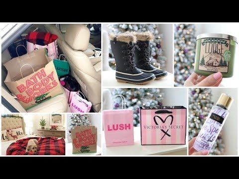 Christmas Shopping Haul 🎄 Bath & Body Works, Victoria's Secret, Lush, Christmas Gifts & More