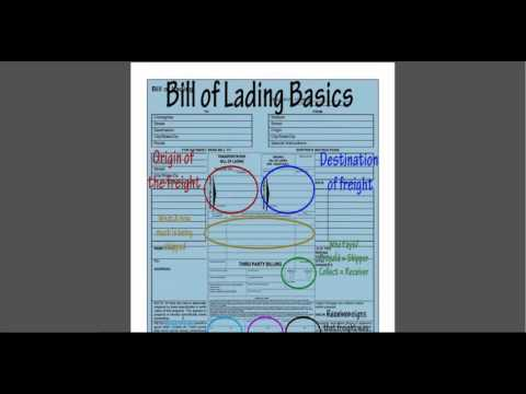 BOL - (Bill of Lading) The Title To The Goods - How You Get Paid