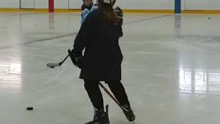 #Girls #Hockey! Stick and Puck with dad coaching.