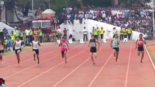WOMEN'S 100M RUN FINAL. NATIONAL GAMES-2015