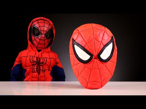 Giant Spider-Man Surprise Egg made of Play Doh​​​ Toys
