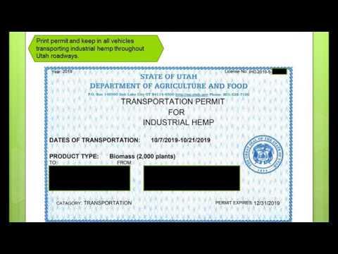 Industrial Hemp Transportation Permit