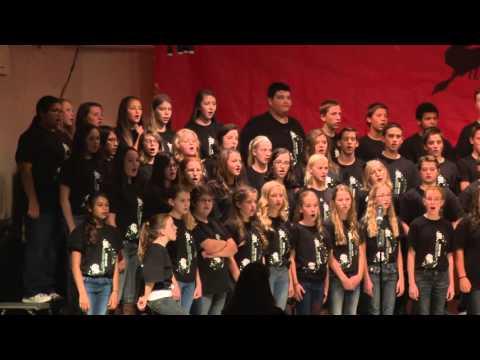 Thatcher Middle School Choir Performance, Fall 2015