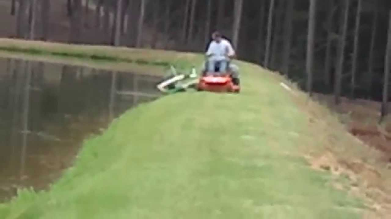 Mowing Pond Levee Youtube