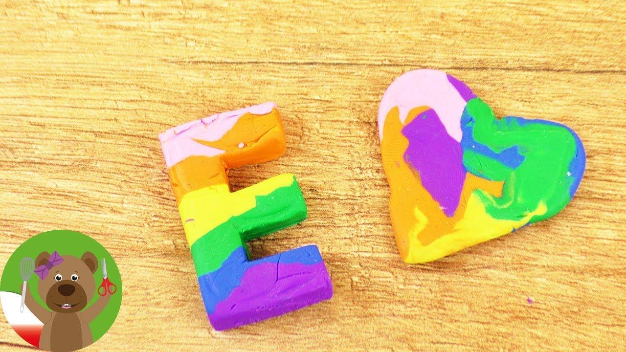 DIY gumki do mazania | kolorowe gumki do mazania w kształcie literek